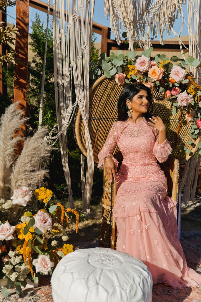 40th birthday photo shoot with a bohemian style