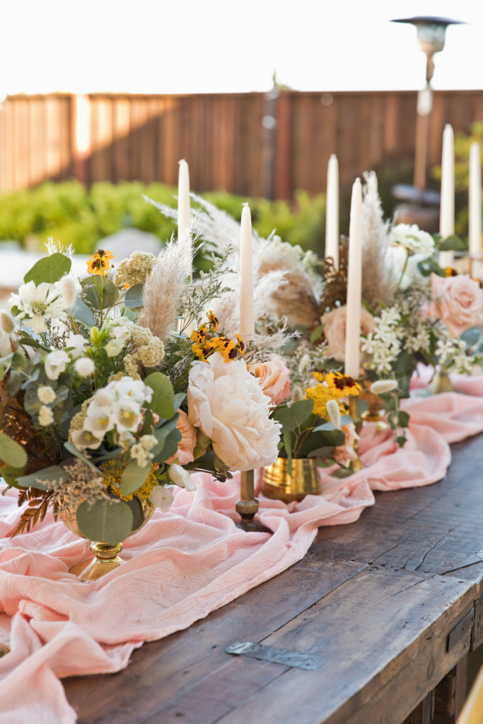 bohemian 40th birthday party tablescape