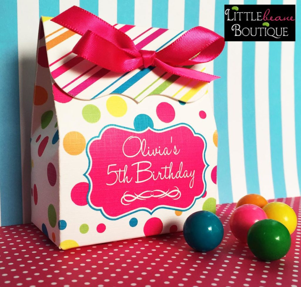 candy land party favor bag