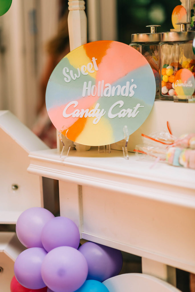 candy land cart sign