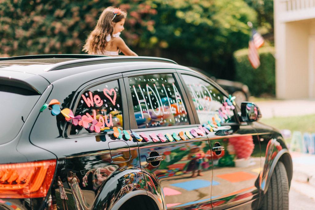 candy land birthday car parade