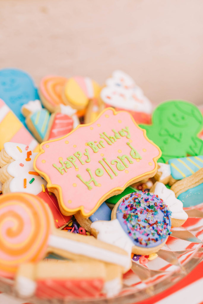 candy land themed sugar cookies