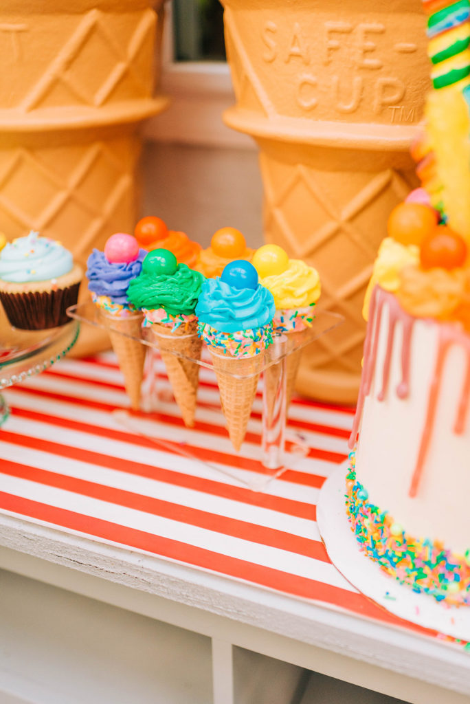 candy land themed cake cones