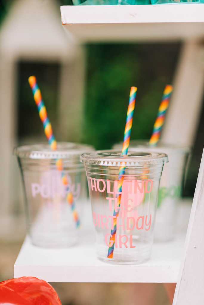 custom candy land themed party cups
