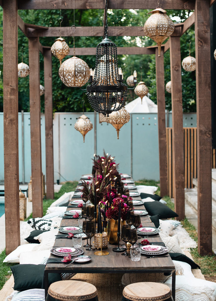 moroccan dinner party centerpieces