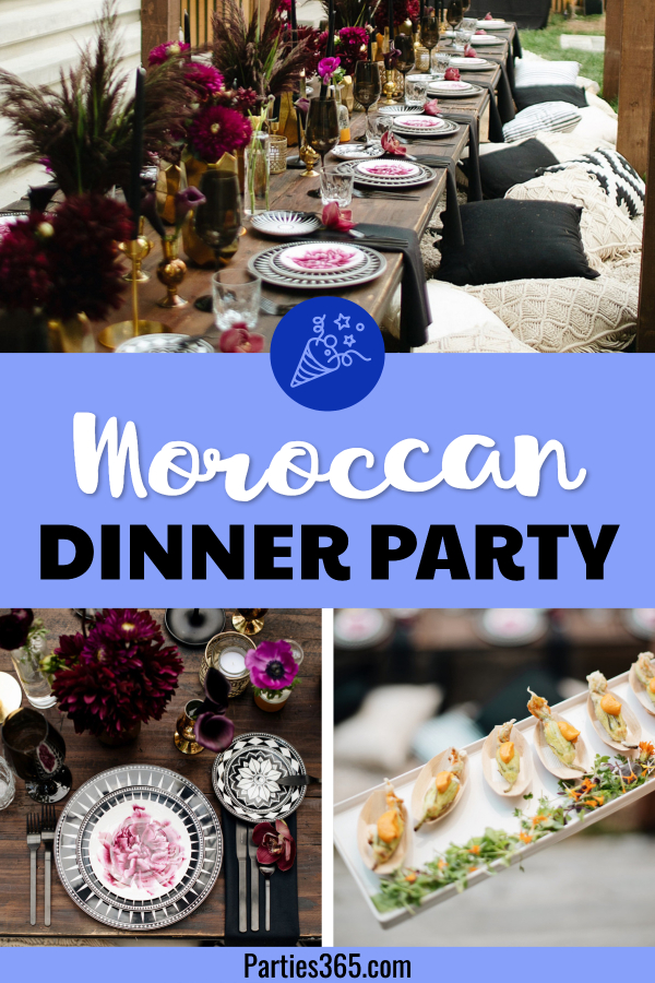 moroccan dinner party ideas