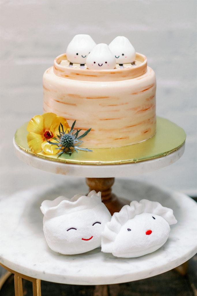 dim sum shaped baby shower cake
