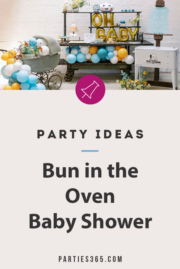 bun in the oven baby shower