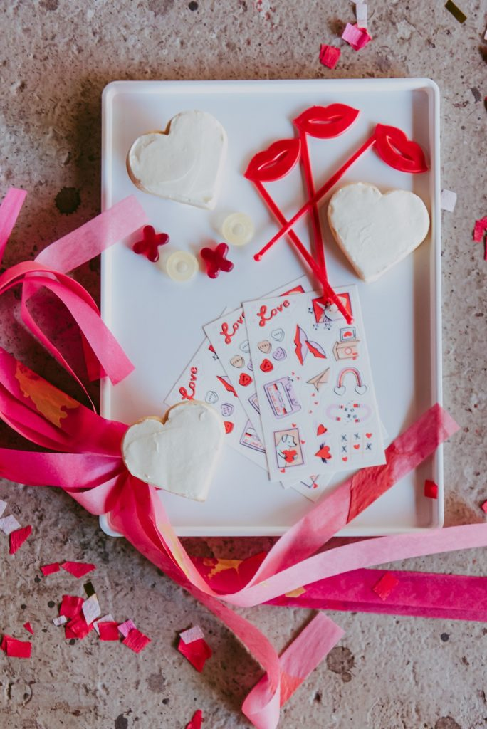 edible Valentine's Day stickers for cookies