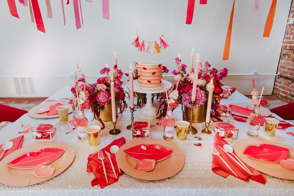 Valentine's day tablescape and centerpiece ideas