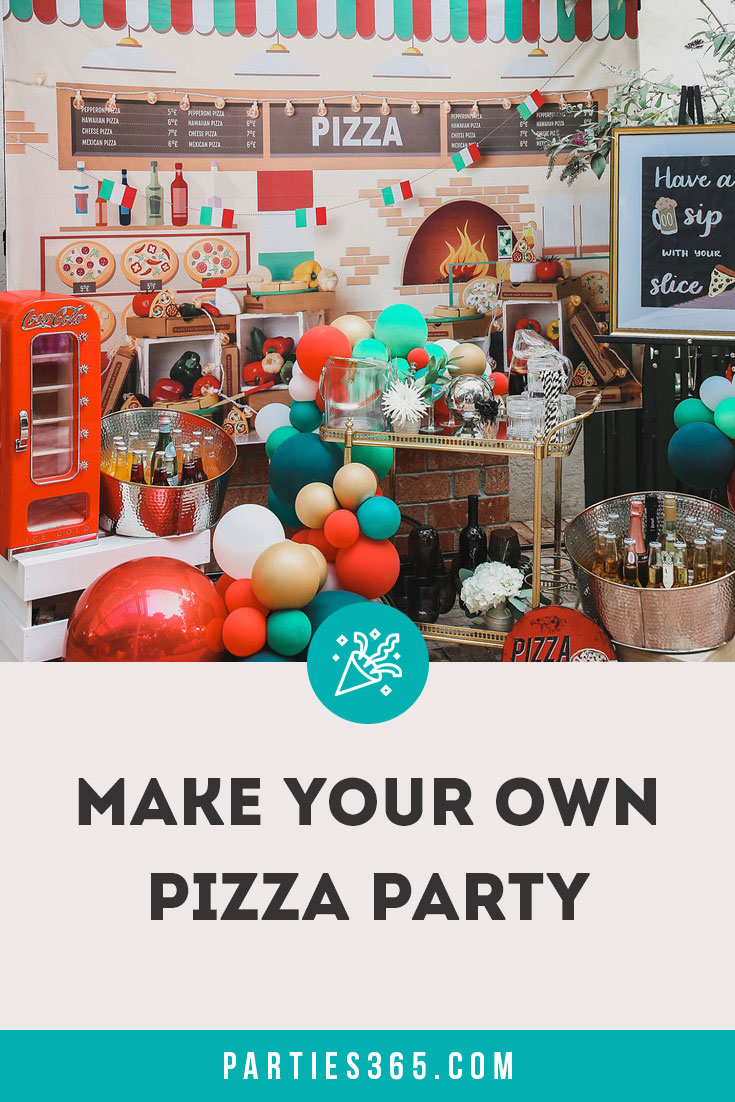 make your own pizza party for adults