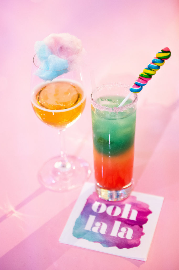kid friendly cocktails with candy and cotton candy