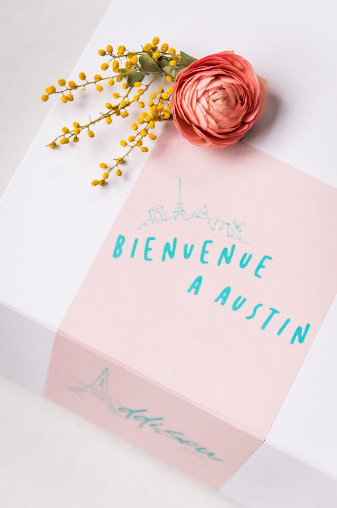 paris birthday party favor boxes