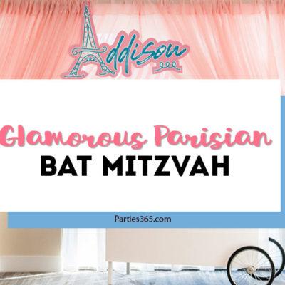 paris themed bat mitzvah
