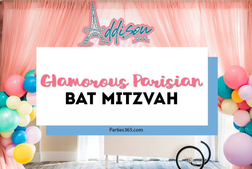 paris themed bat mitzvah