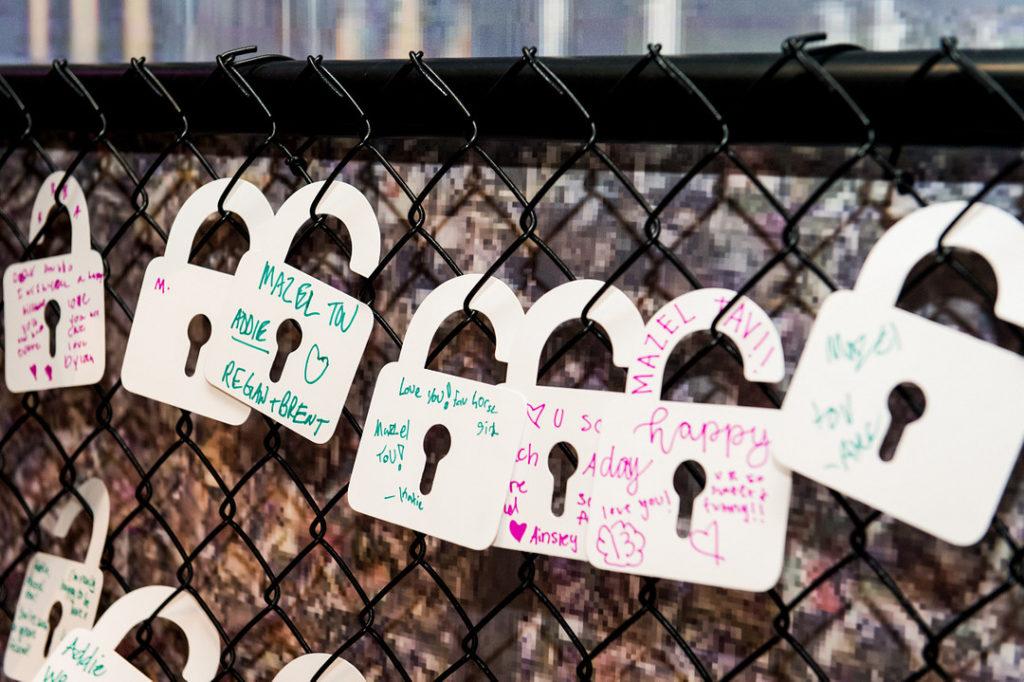 love locks at birthday party