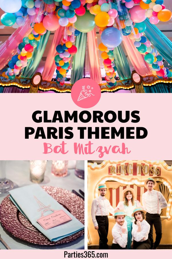 ideas for a paris themed bat mitzvah