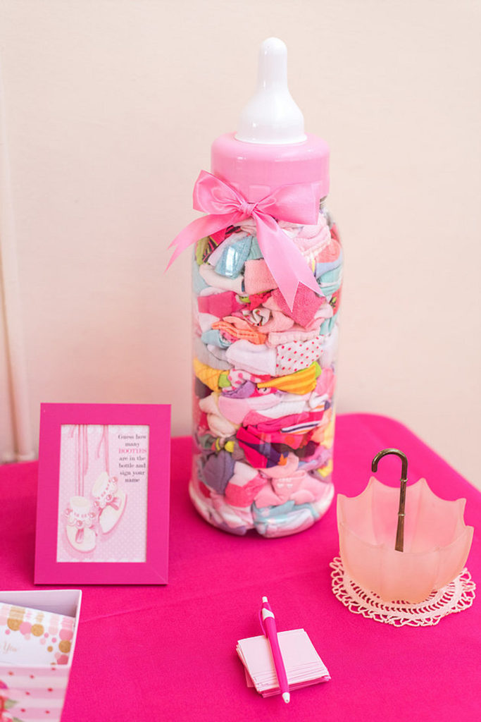 baby shower game how many booties in the bottle