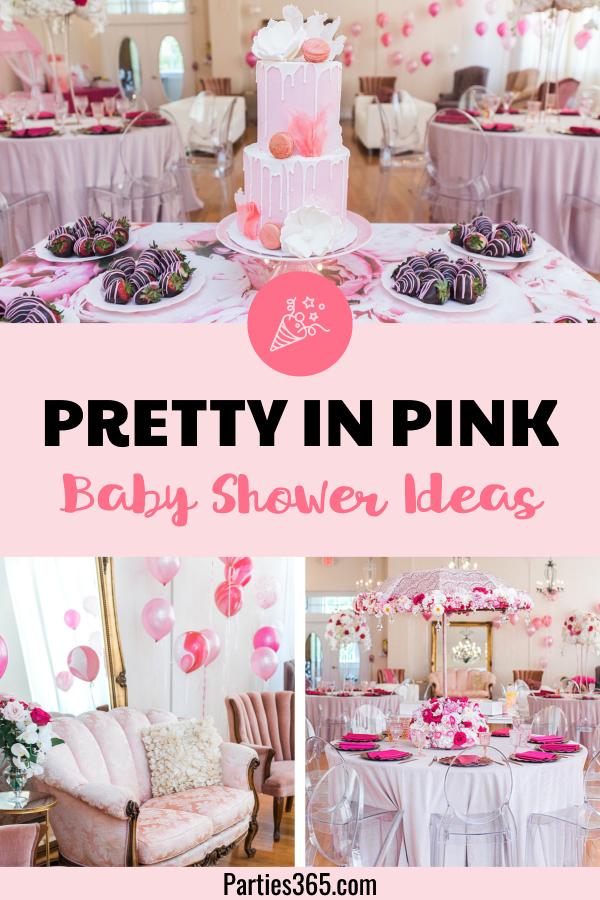 pretty in pink baby shower ideas