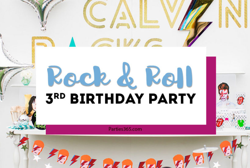 rock and roll art themed birthday party ideas
