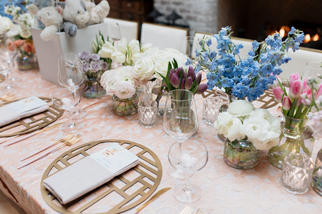 spring flowers for baby shower centerpiece