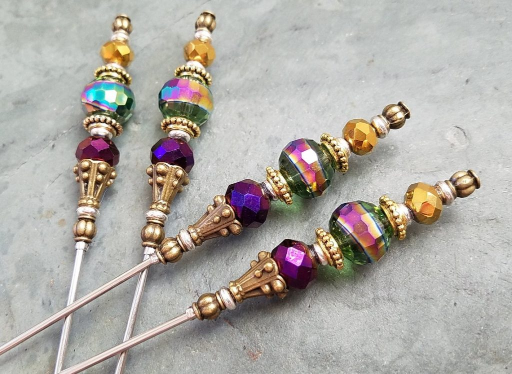 Mardi Gras cocktail skewers