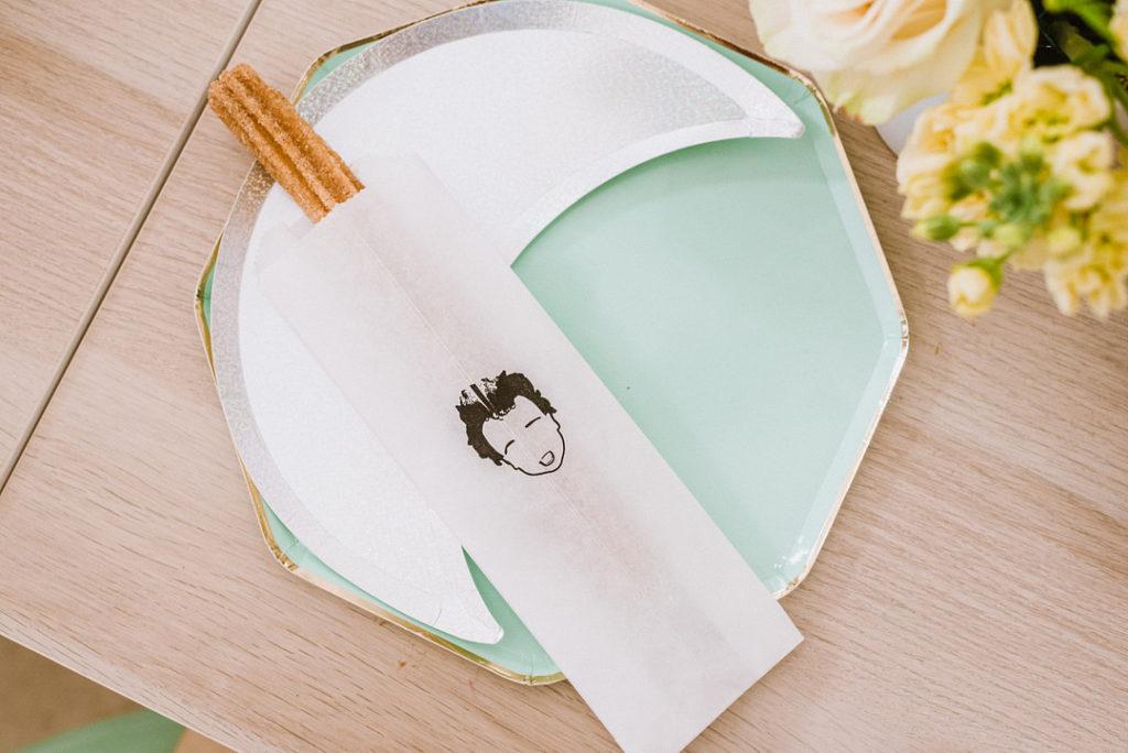 custom churro sleeve at birthday party
