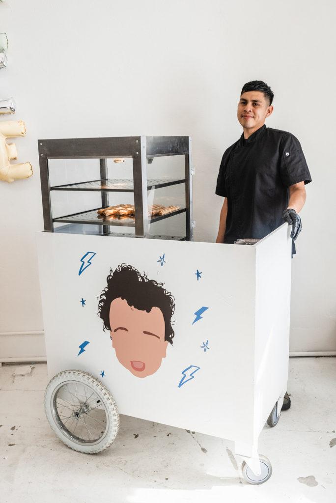 churro cart at birthday party