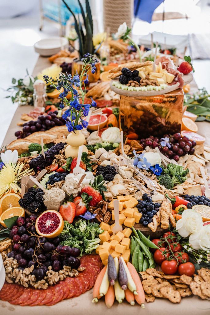 grazing table at first birthday party