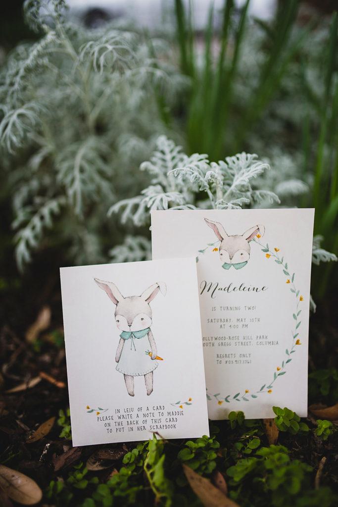 bunny rabbit birthday party invitations