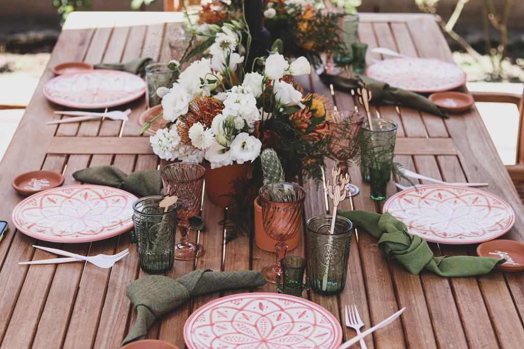 table decor for cactus themed birthday party