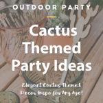 cactus birthday party ideas