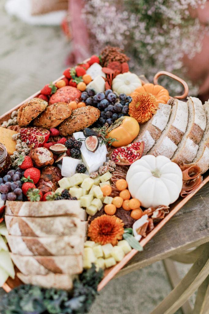 cheese tray at picnic