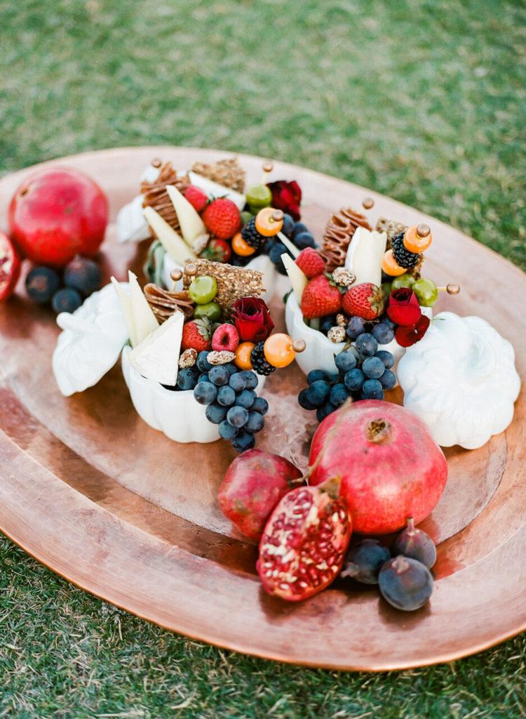 fruit tray at picnic