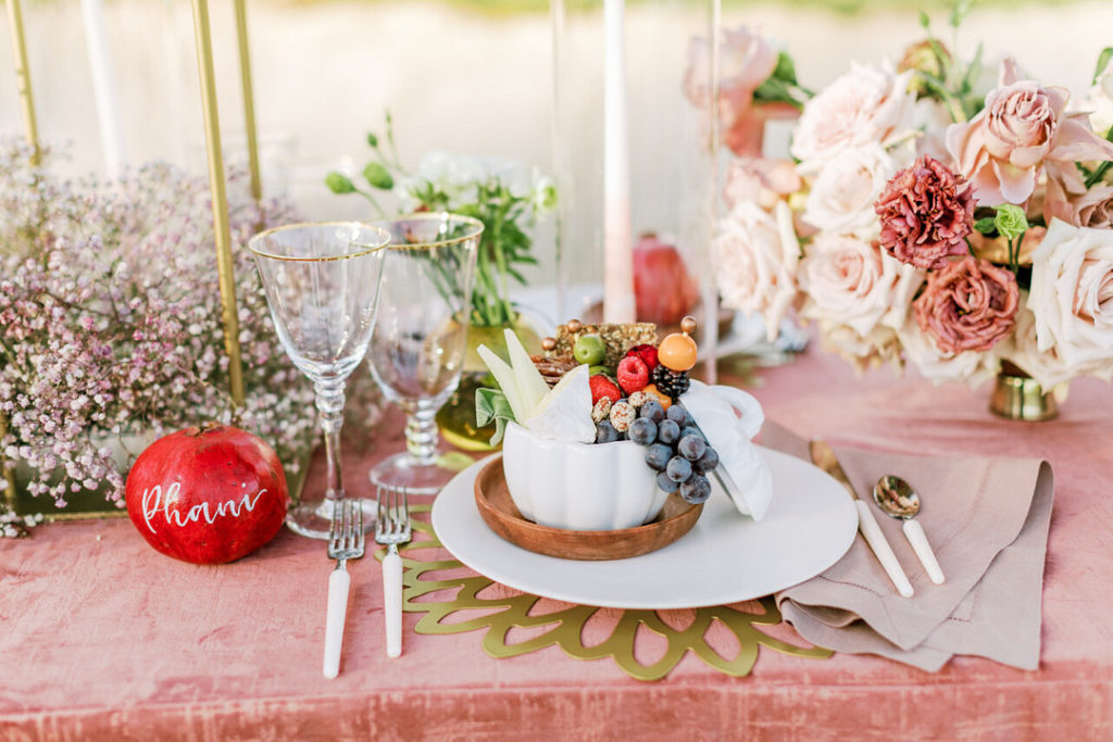 outdoor picnic place setting ideas