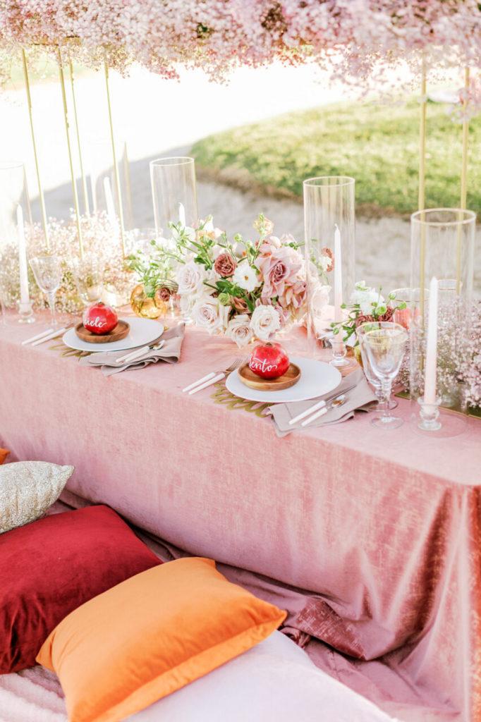 outdoor picnic table decor