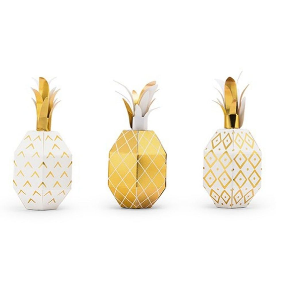pineapple favor boxes