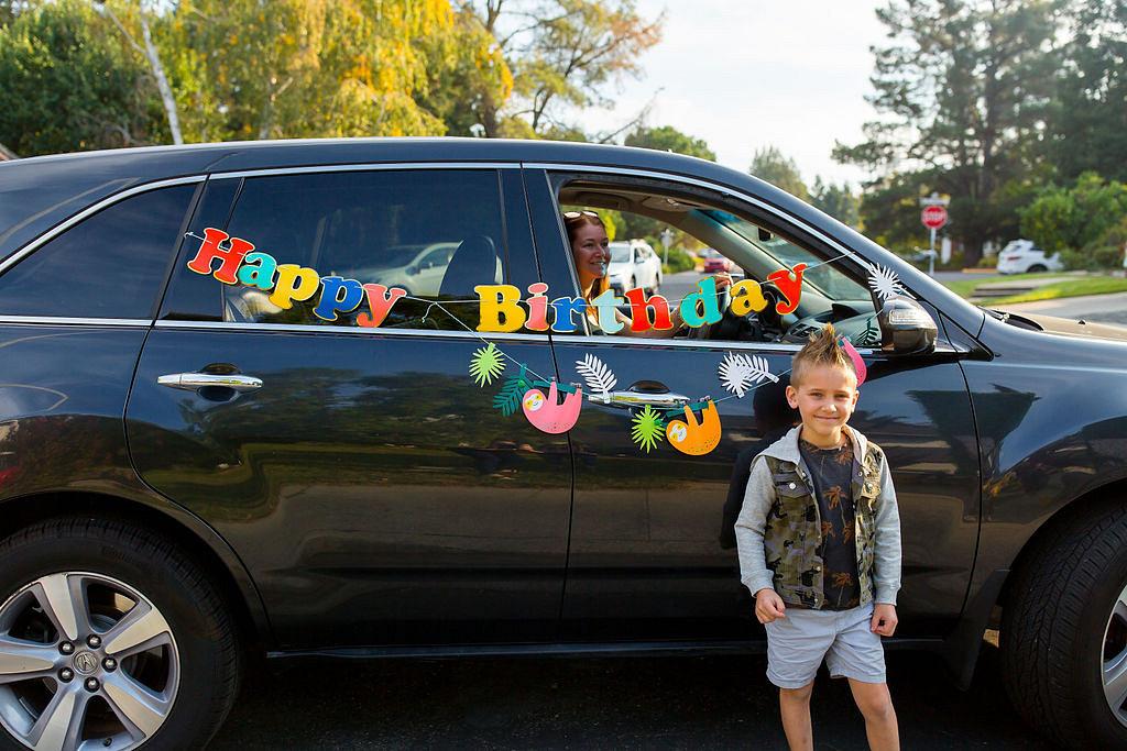 safari birthday party car parade