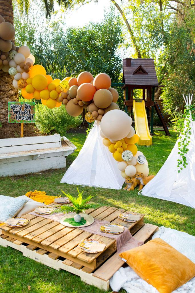 backyard safari birthday party