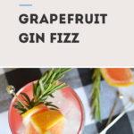 Grapefruit Gin Fizz Cocktail