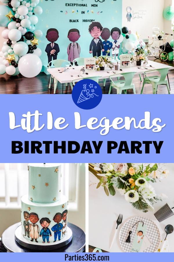 little legends boys birthday party
