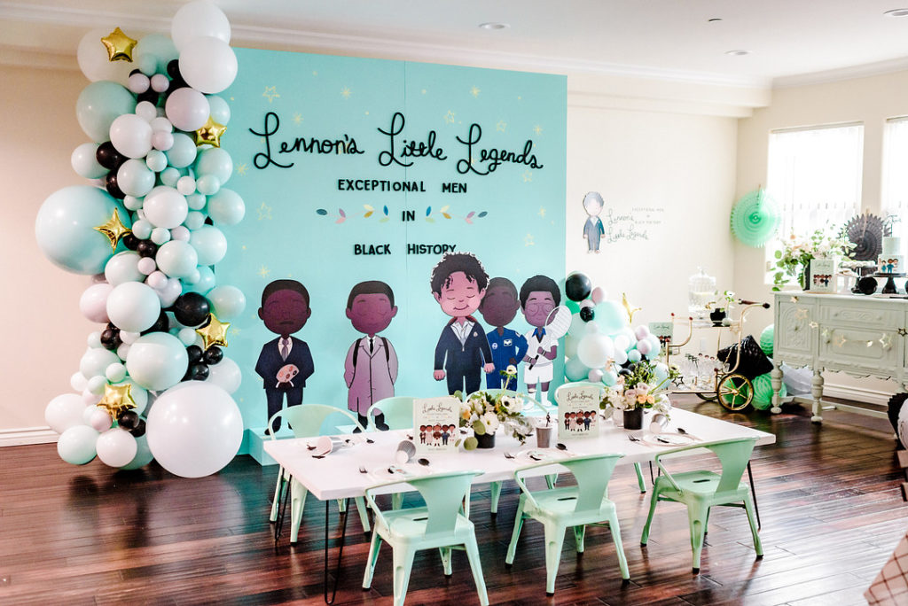 little legends child's birthday party backdrop